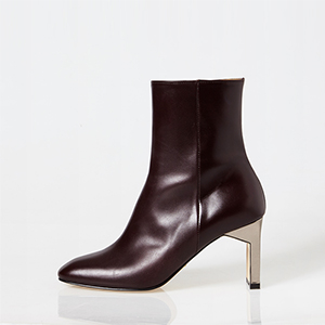 matte metalic ankle boots