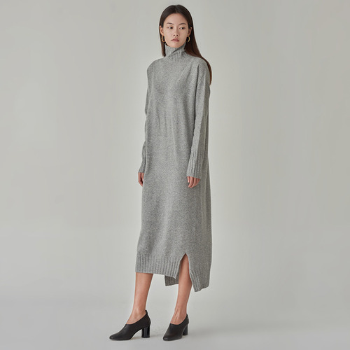 Earth cashmere blended dress
