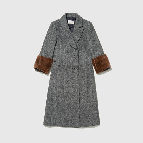 F-  herringbone double coat