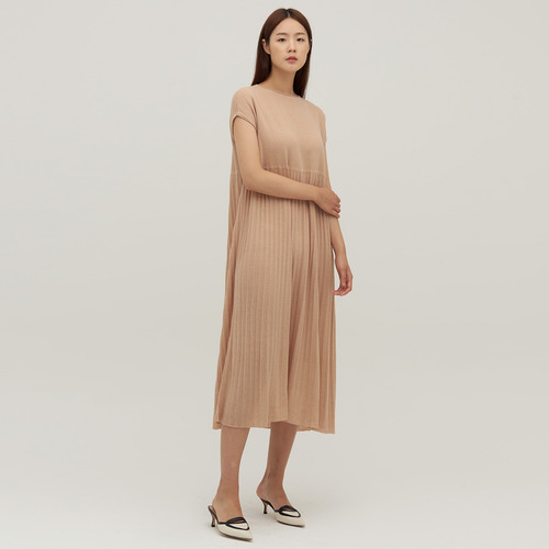 SUMMER KNIT pleats dress