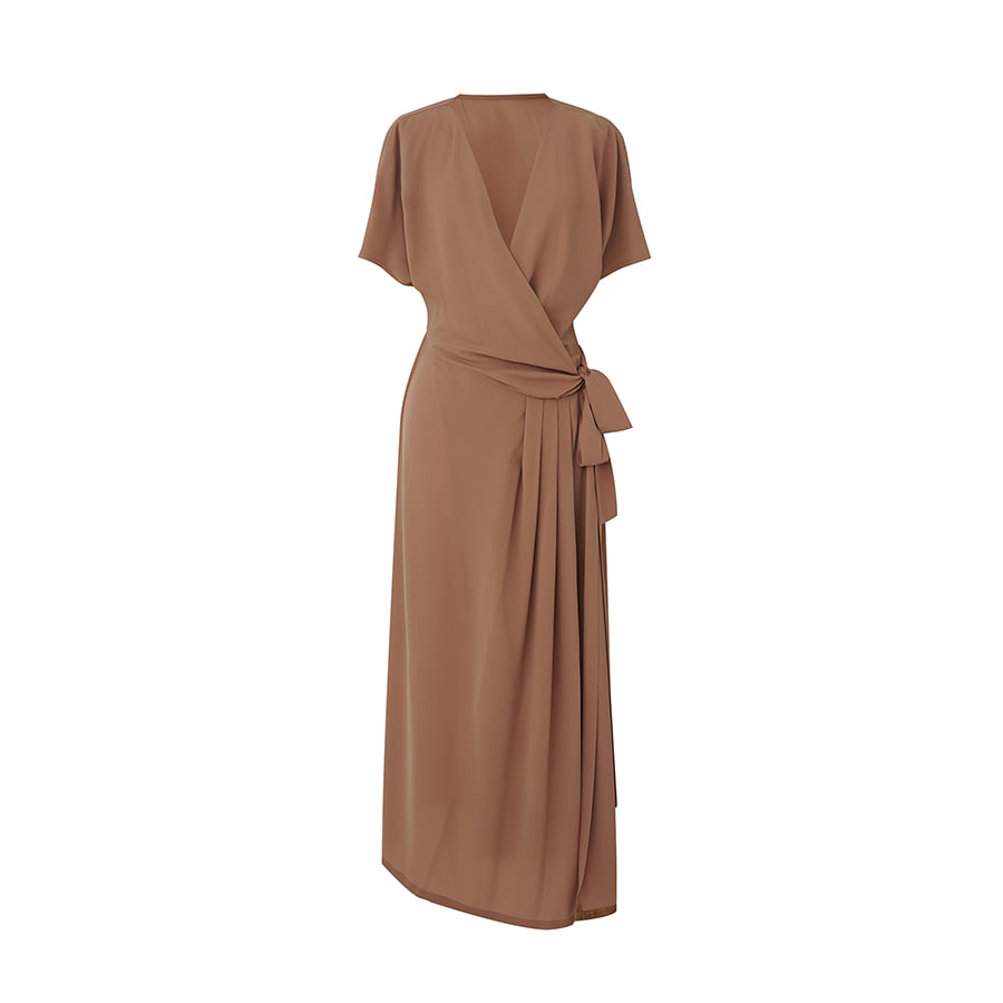 Owen Wrap Long Dress