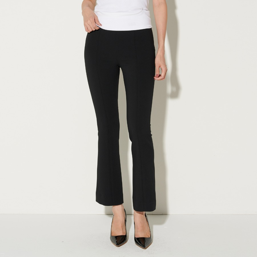 Flared-leg jersey trousers